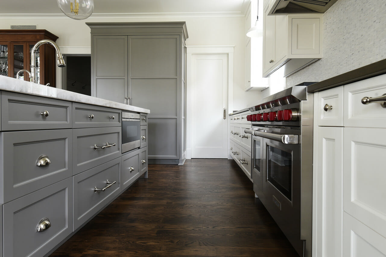 Create a good balance of stainless steel and other materials like in this picture if you decide you want stainless steel appliances