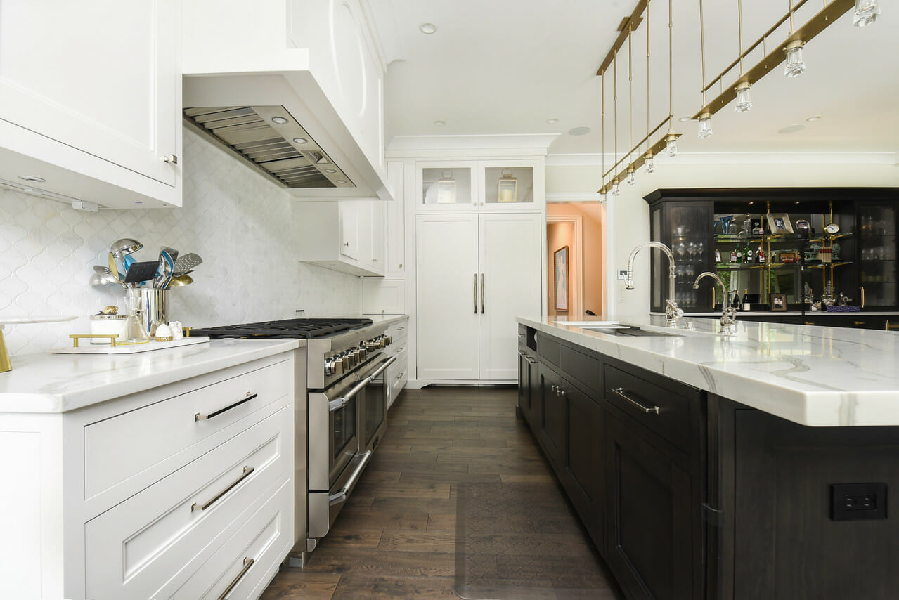 The new streamlined kitchen