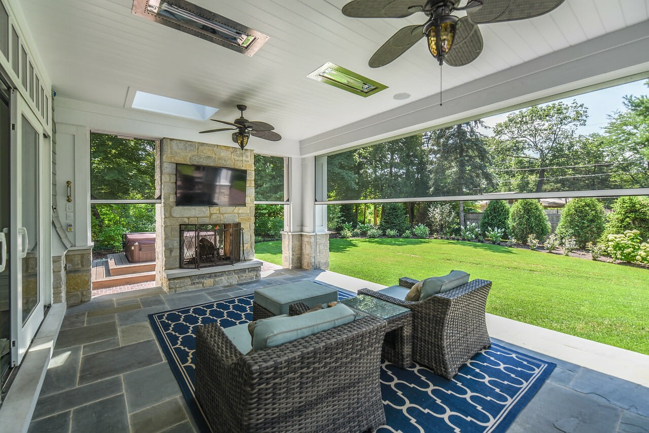Our latest home remodeling project features this beautiful outdoor space