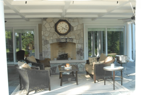 Stonework, layers, and greenery can all be used to customize your porch