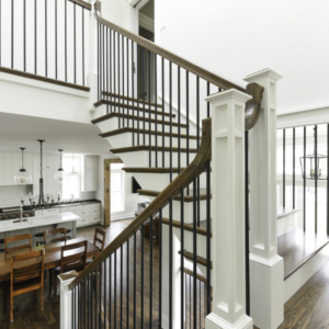 Custom New Construction Home - Integrity Construction Consulting, Inc. - Kitchen Area & Stairs